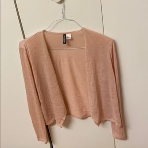 Pink H&M light cardigan small